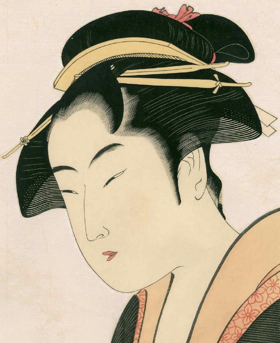 Utamaro: Ochie of the Ko-Iseya at Kobiki-cho - 2