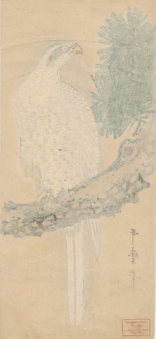 Utamaro: White Eagle on a Pine Branch - 3