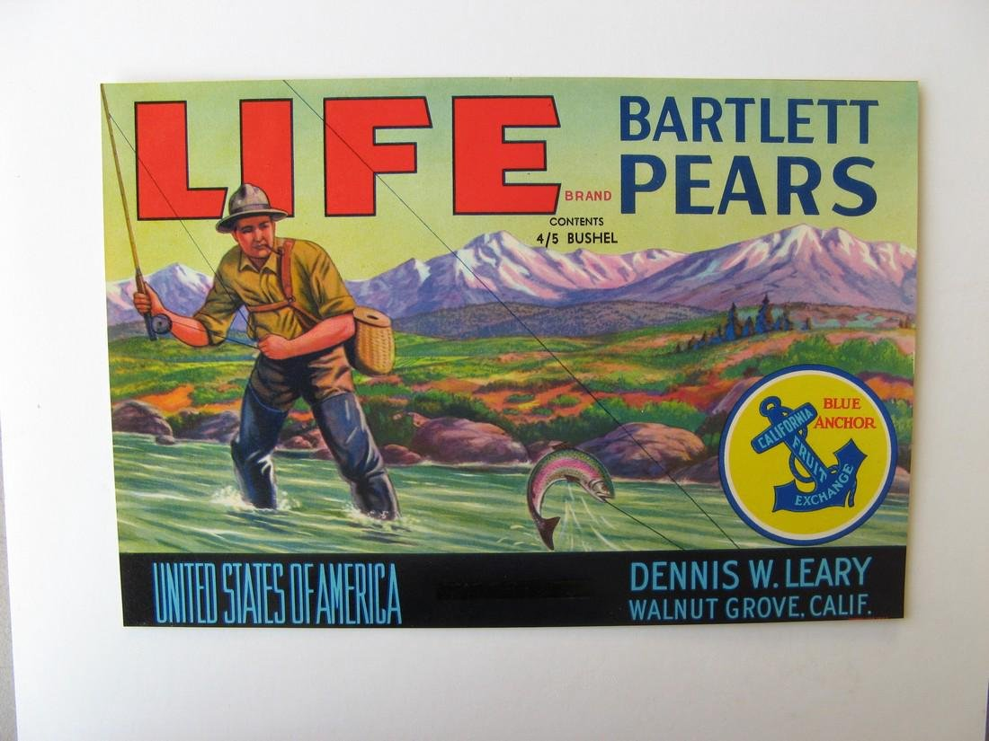"""""""Life"""" Original Crate Label"""