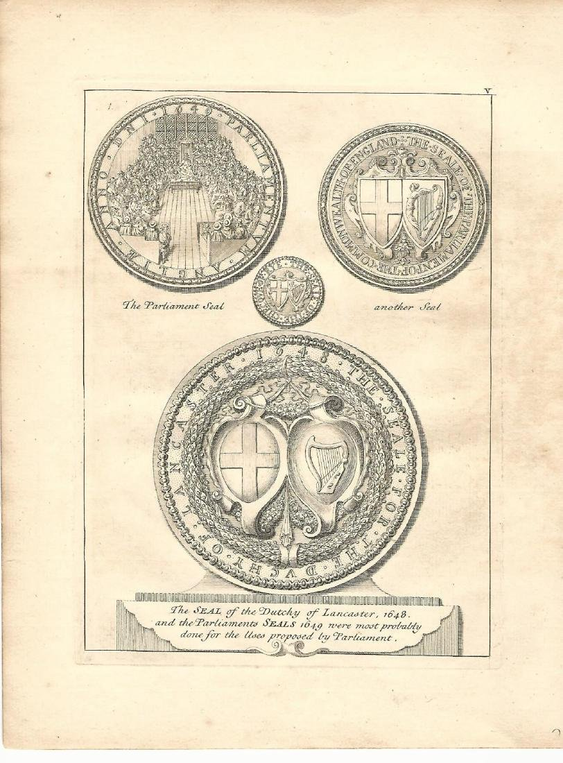 1753 Vertue Engraving Seal of the Duchy of Lancaster