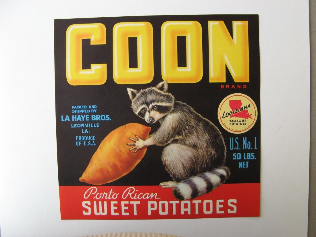 """Coon"" Original Crate Label"