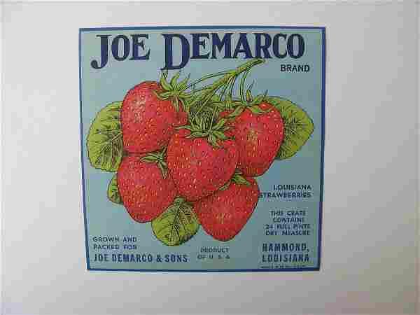 """Joe Demarco"" Original Crate Label"