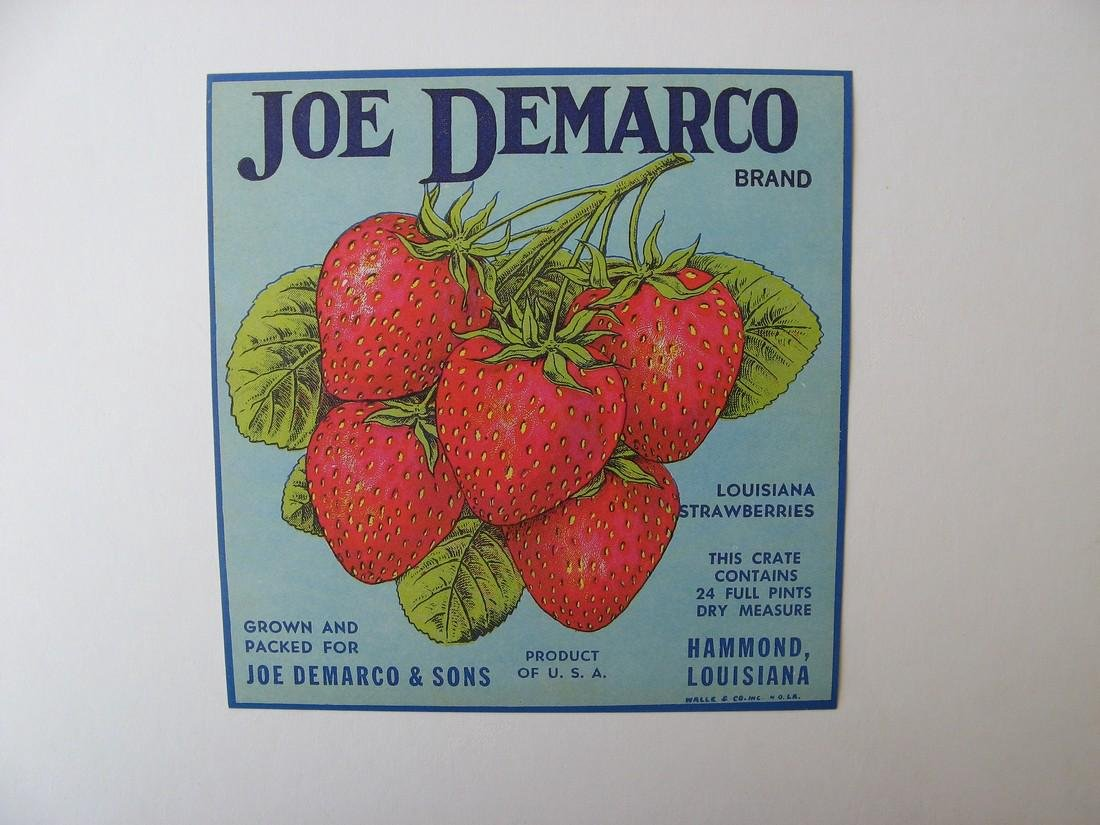 """Joe Demarco"" Original Crate Label"