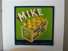 """Mike"" Original Crate Label"