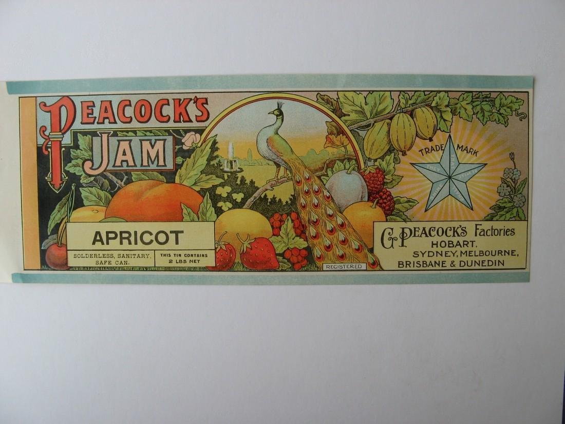 """Peacock's"" Original JamLabel"