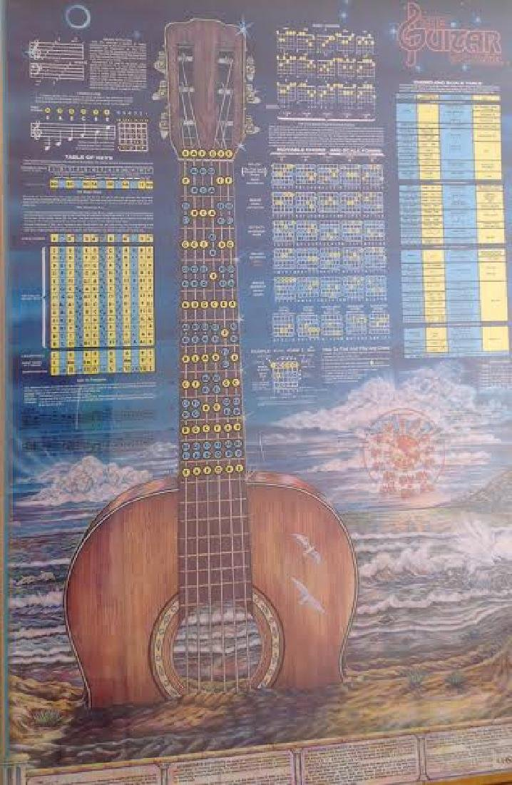 The Guitar Poster with Chord & Scale Table, Signed - 2