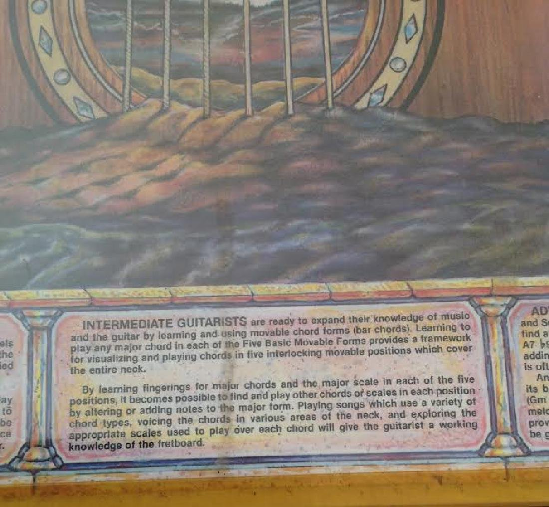 The Guitar Poster with Chord & Scale Table, Signed - 5