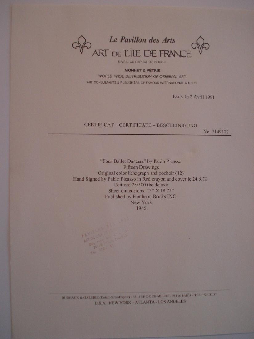 Picasso: 4 Ballet Dancers, Signed - 4