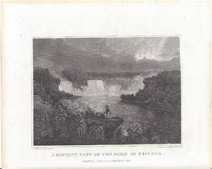 A Distant View Of The Falls Of Niagara.