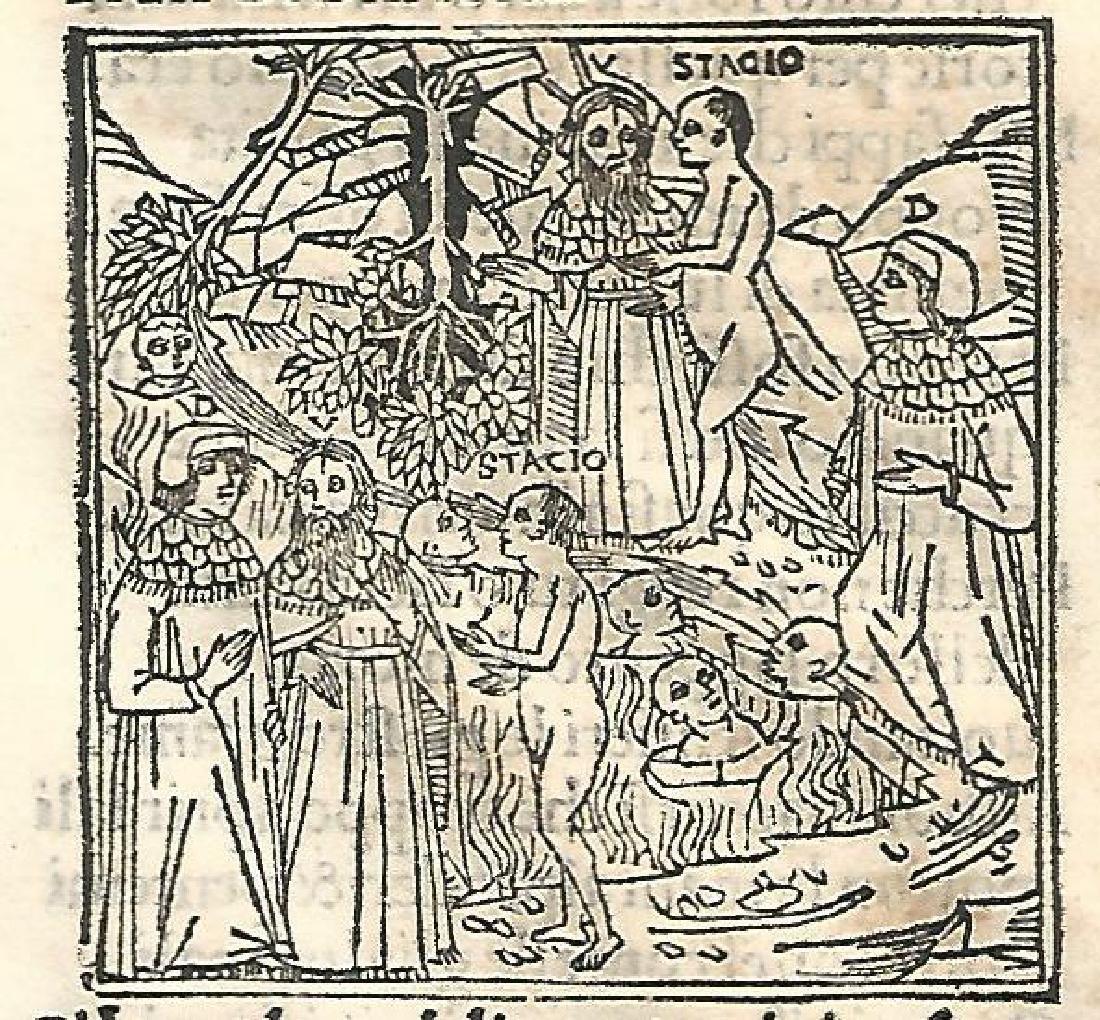 1507 Leaf Dante Purgatorio w/ Woodcut - 2