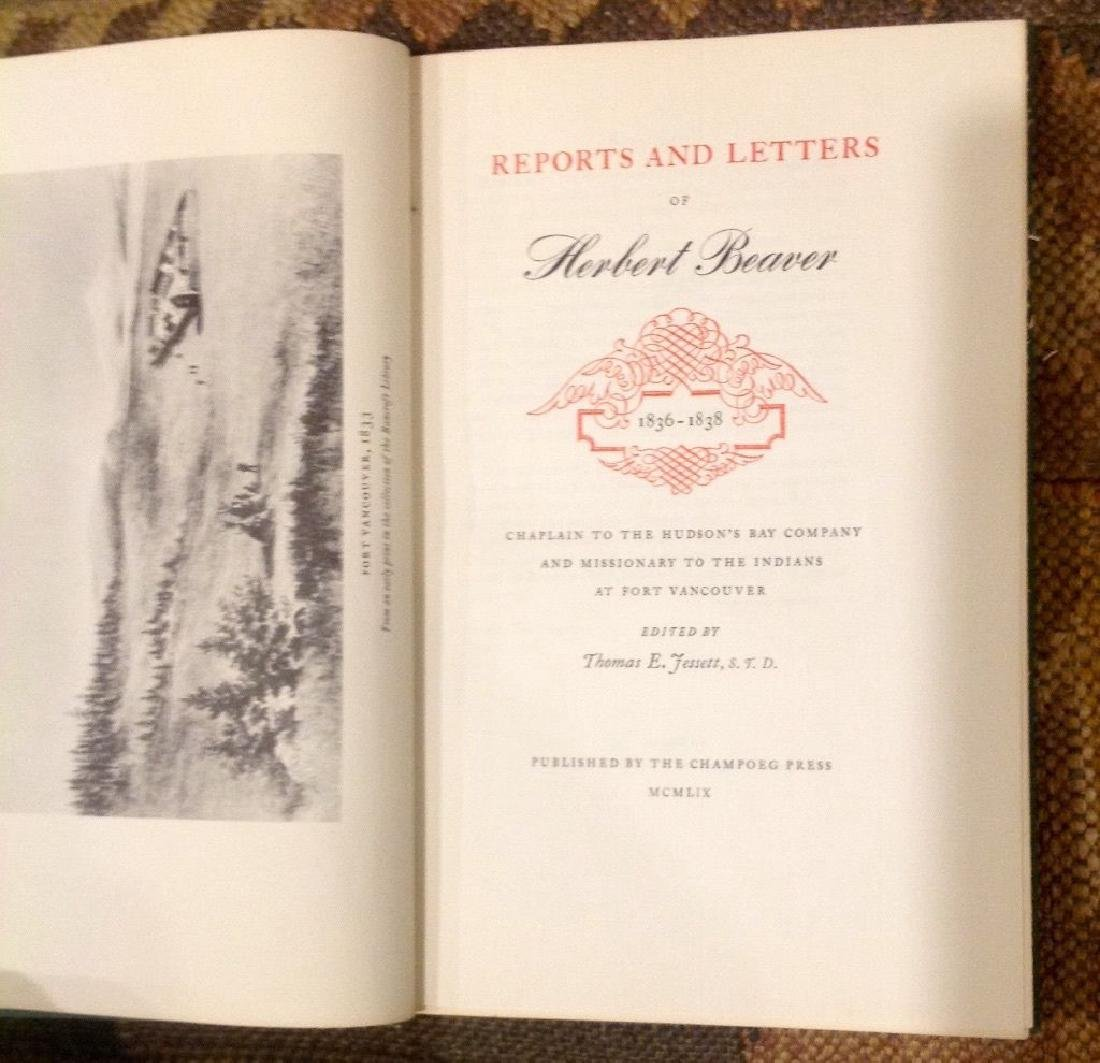 Reports & Letters of Herbert Beaver 1836-1838, 1st Ed - 4