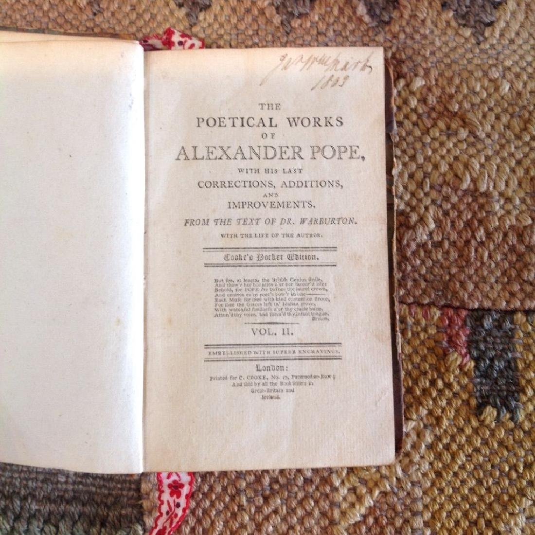 The Poetical Works of Alexander Poe, 1800 - 4