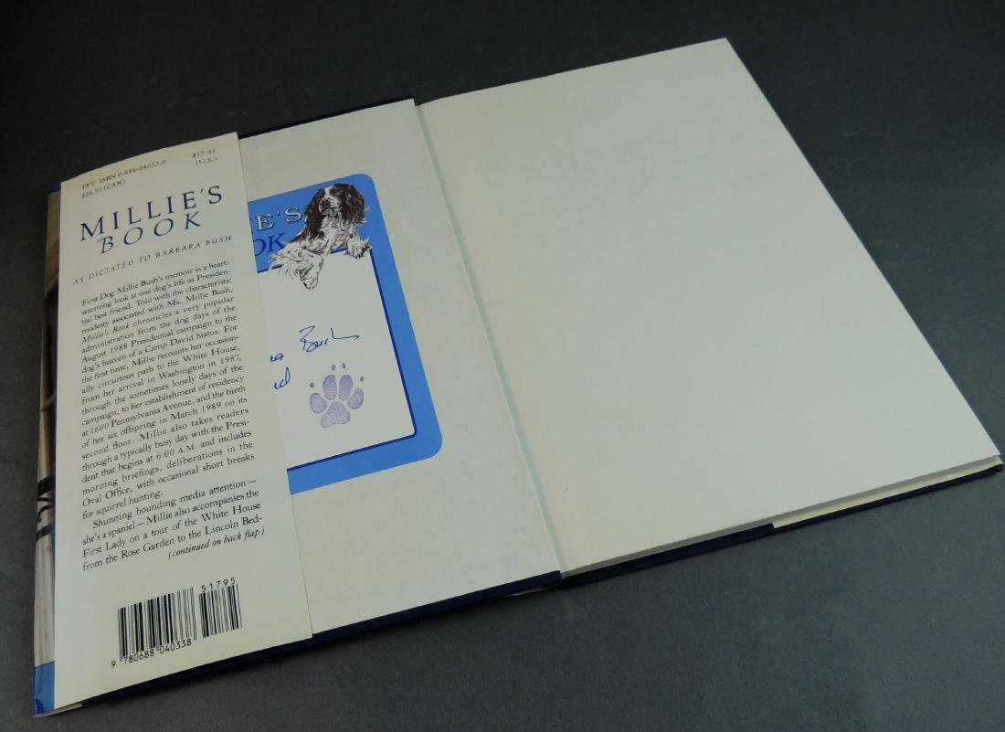Millie's Book As Dictated to Barbara Bush - Signed - 4
