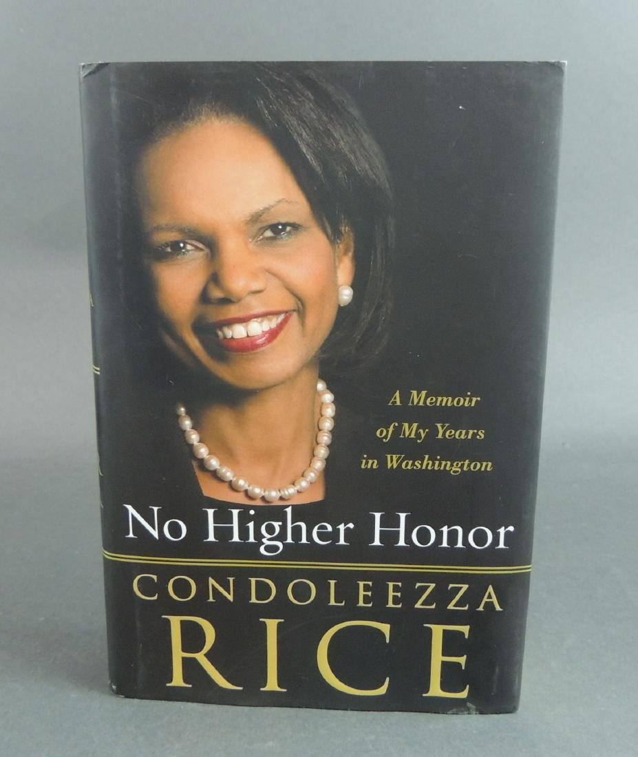 Condoleezza Rice: No Higher Honor - Signed