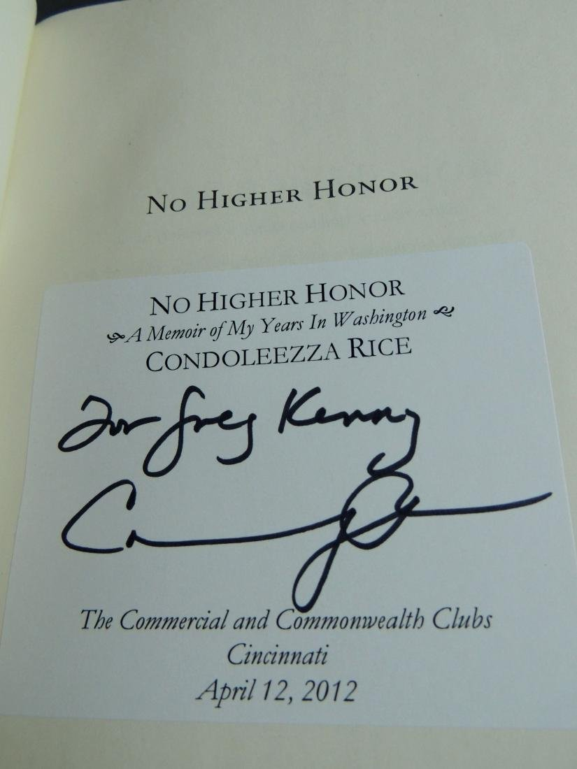 Condoleezza Rice: No Higher Honor - Signed - 5