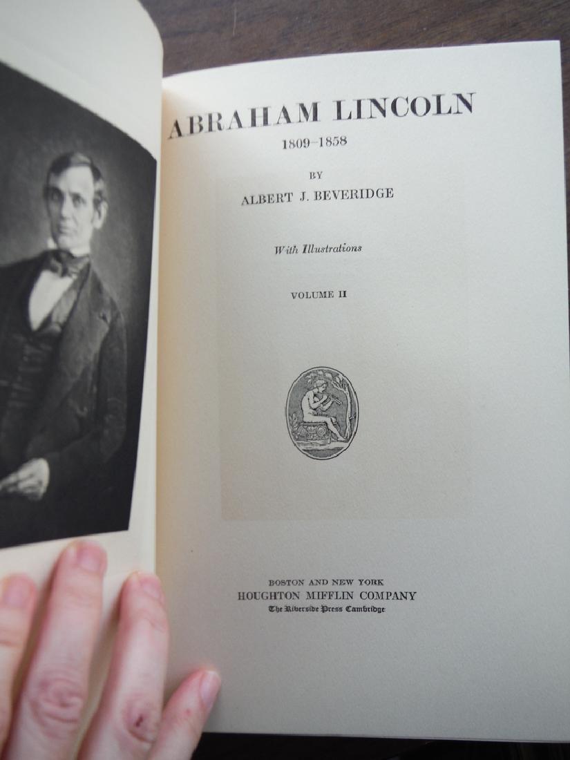 Abraham Lincoln 1809-1856. 4 Vols - 3