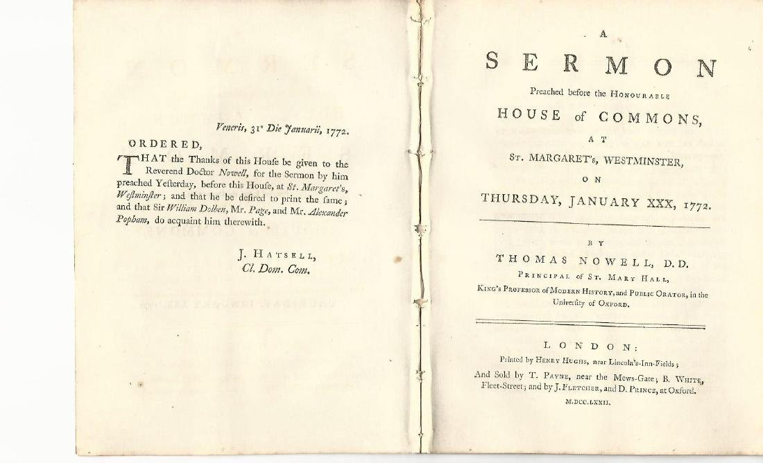 1772 English Sermon on Righteous Government