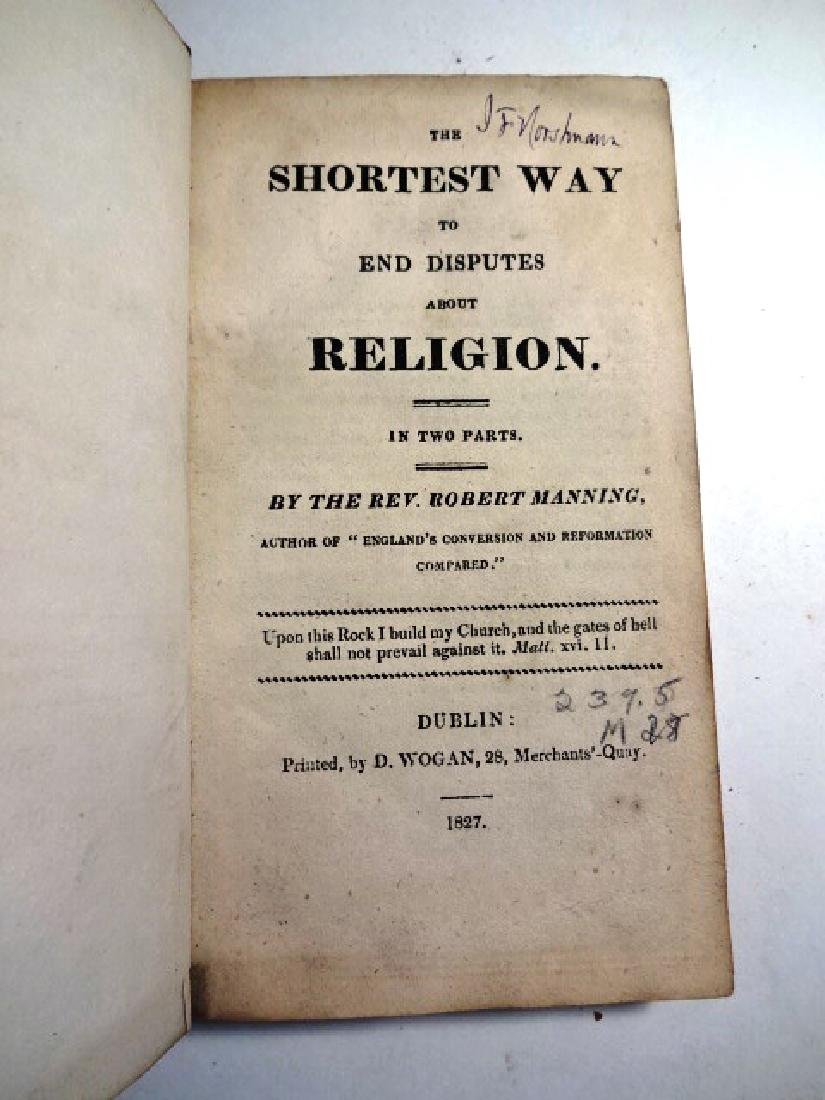 1827 The Shortest Way to End Disputes about Religion