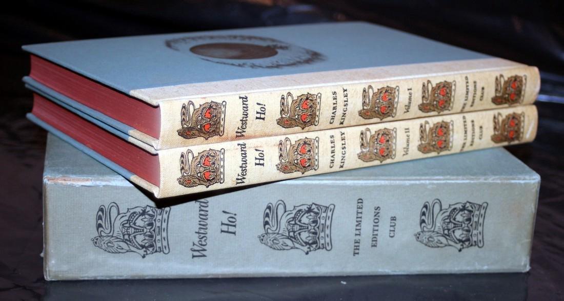 Kingsley, Charles: Westward Ho! 1947, Heritage Press - 2