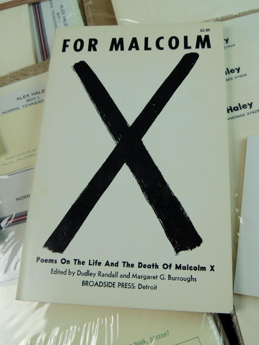 Alex Haley Unused Stationery & Signed Malcom X Book - 2