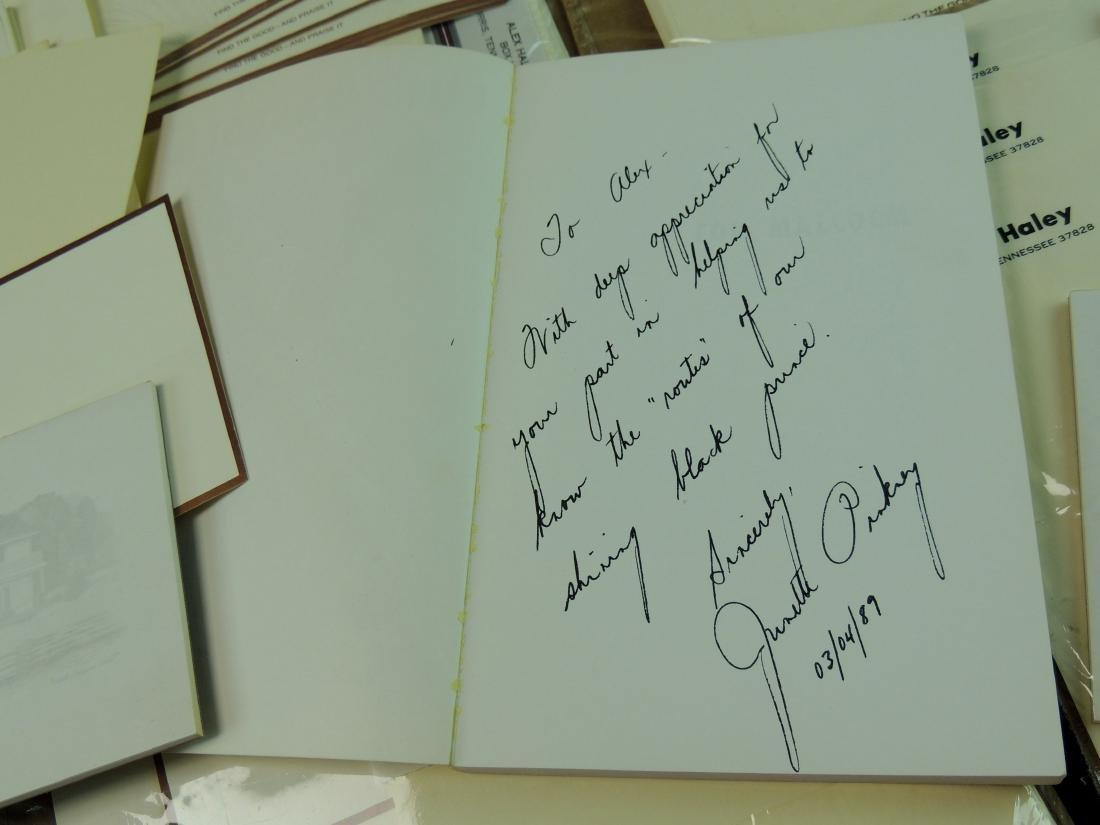 Alex Haley Unused Stationery & Signed Malcom X Book - 3