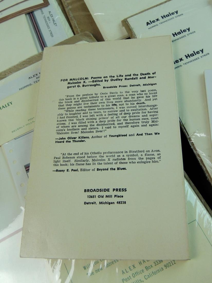 Alex Haley Unused Stationery & Signed Malcom X Book - 5