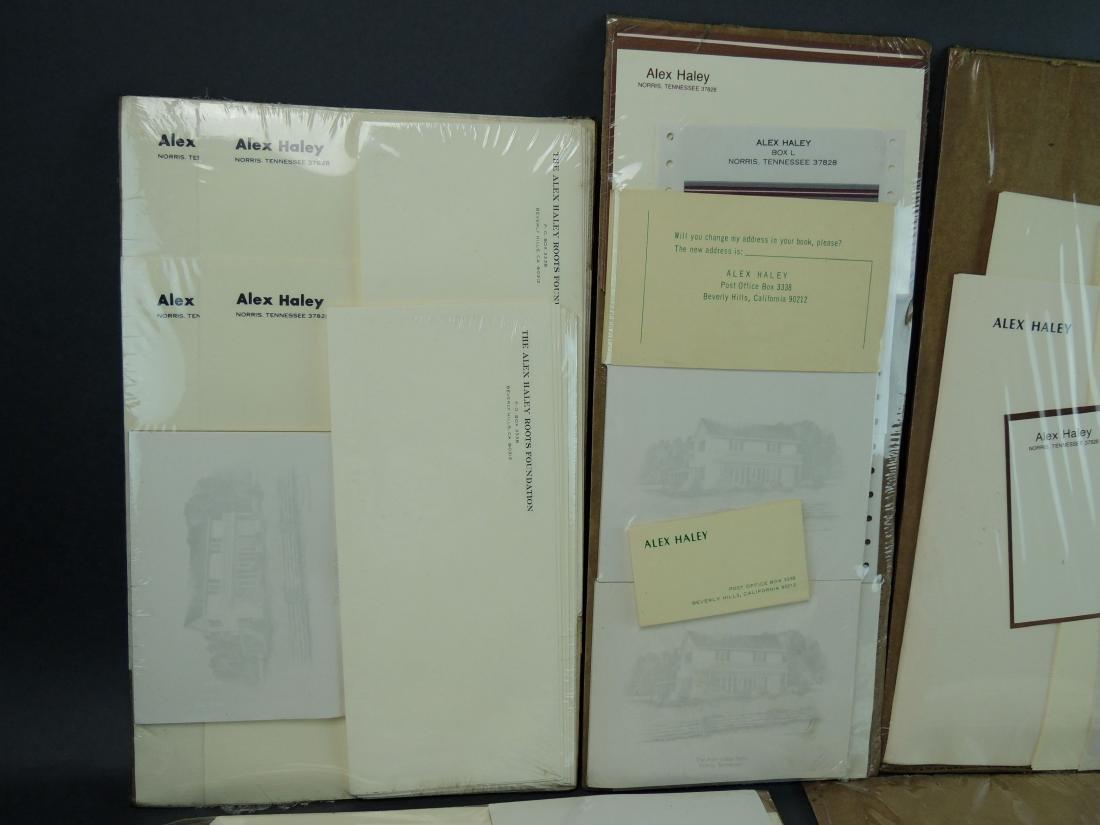 Alex Haley Unused Stationery & Signed Malcom X Book - 6