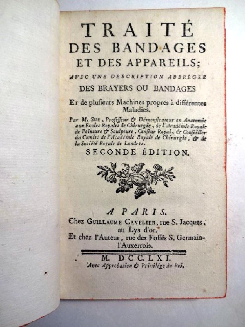 1761 Medical Book Traite Des Bandages Et Des Appareils - 2