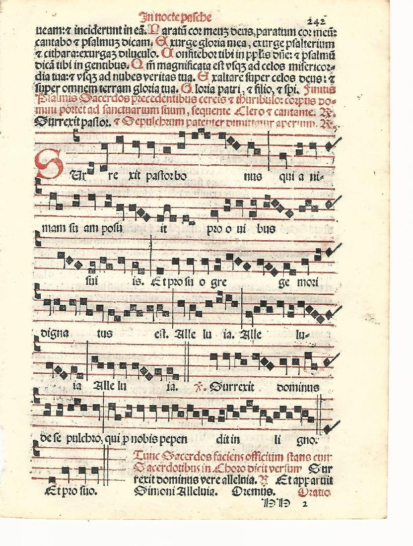 1567 Catholic Hymnal Leaf Music