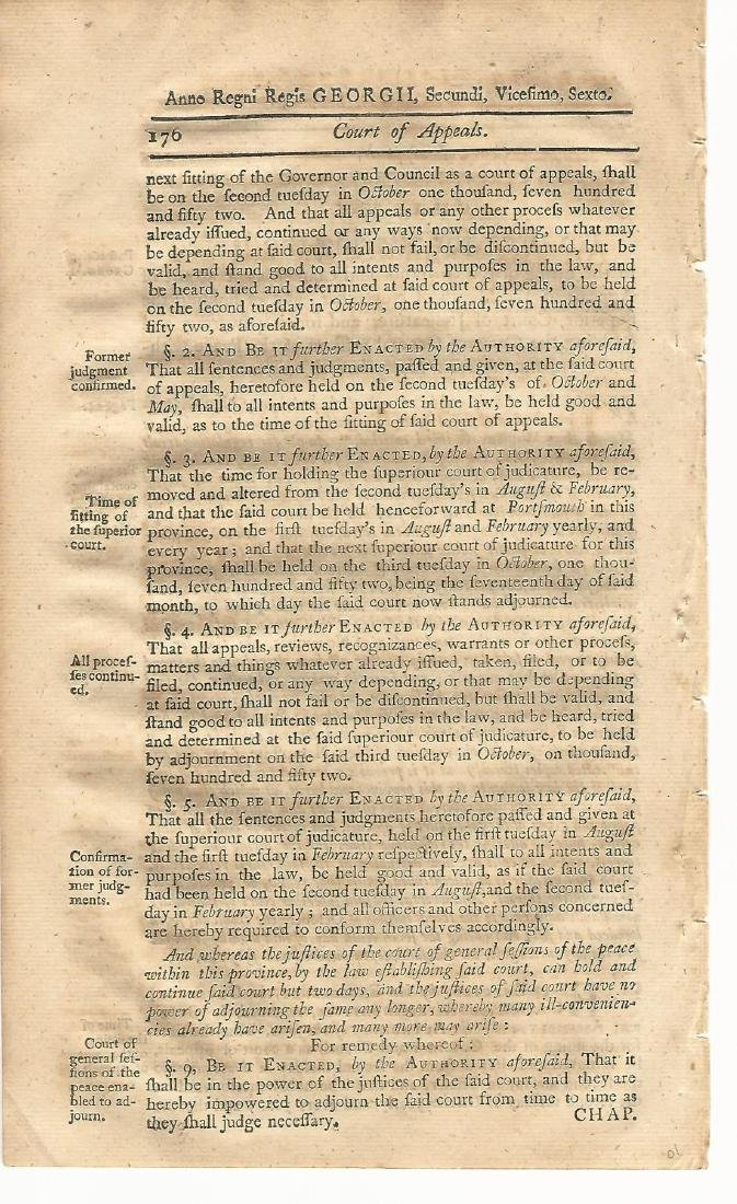 1771 Colonial Act Judiciary Court of Appeals - 2