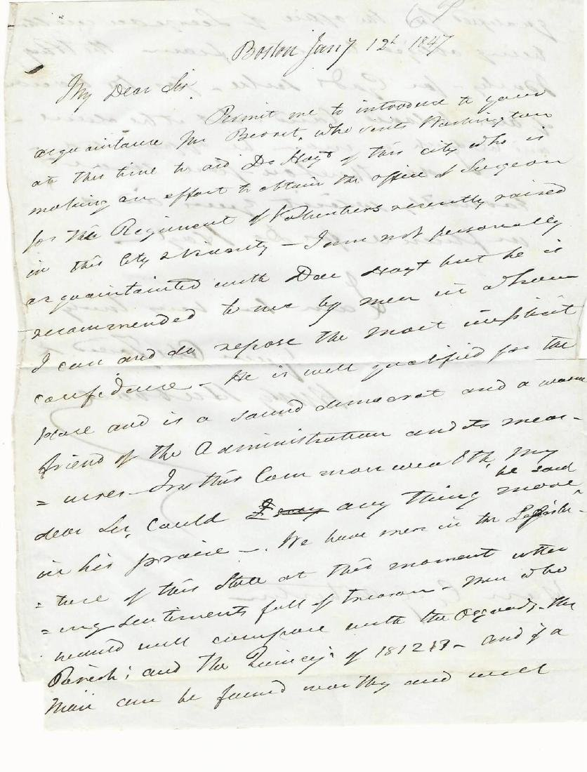 1847 ALS Henry Hubbard Governor New Hampshire