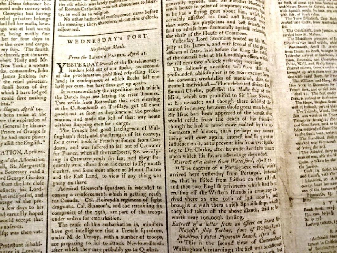 1789 The Glasgow Mercury Revolutionary War - 3