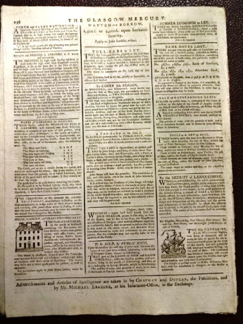 1789 The Glasgow Mercury Revolutionary War - 4