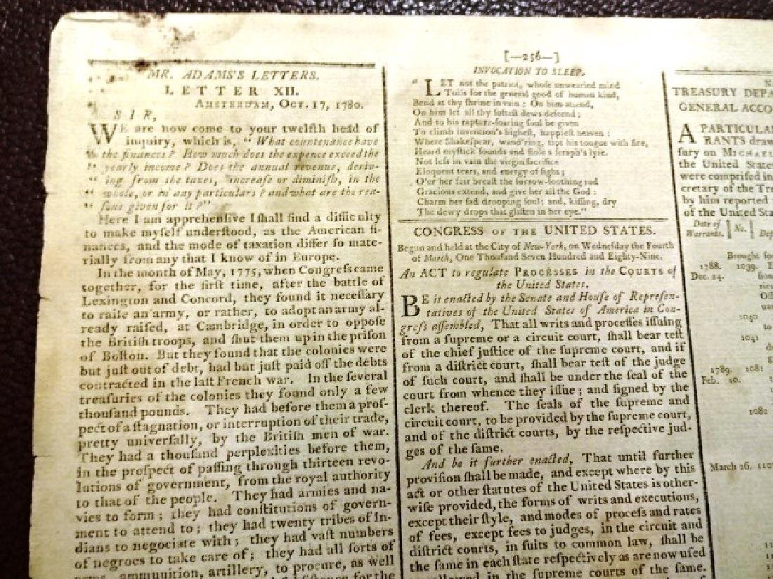 1789 Gazette of United States George Washington Acts - 3
