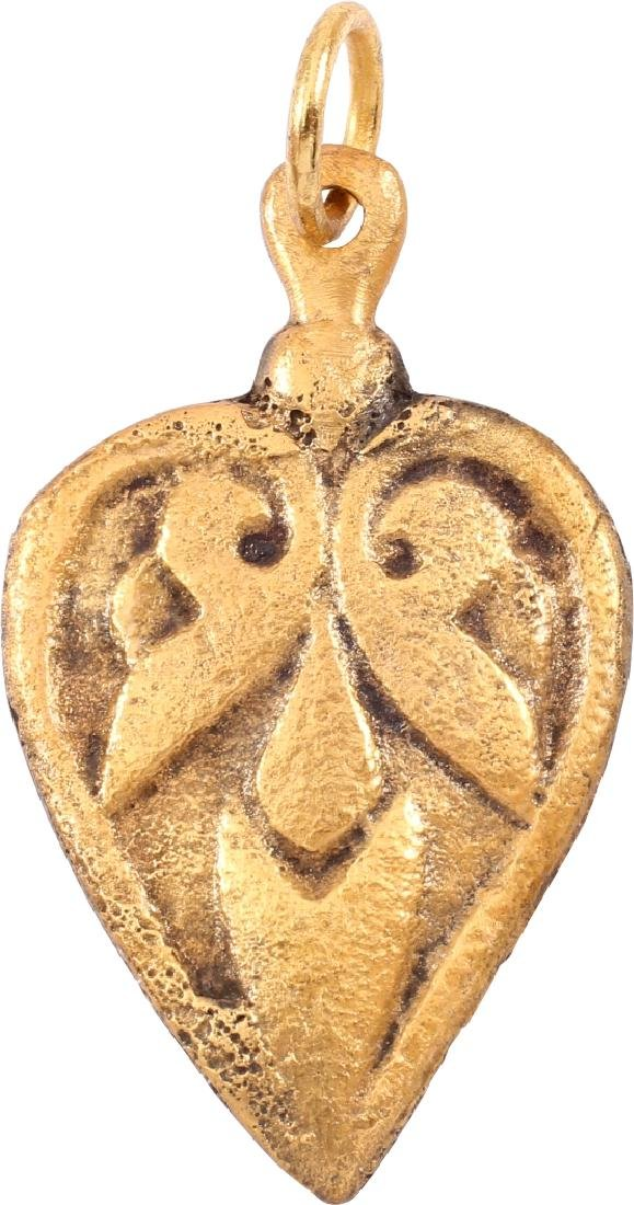Viking Heart Pendant 9th-10th C