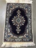 Persian Nain Wool  Silk Rug 2x14