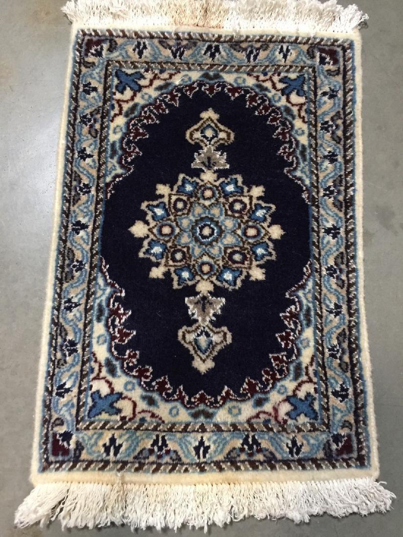 Persian Nain Wool & Silk Rug 2x1.4