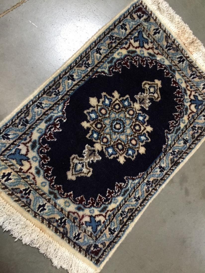 Persian Nain Wool & Silk Rug 2x1.4 - 2