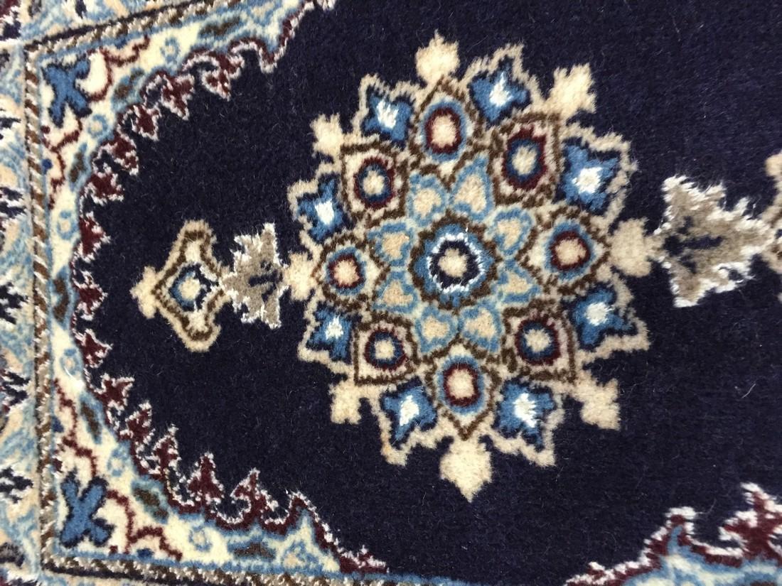 Persian Nain Wool & Silk Rug 2x1.4 - 4