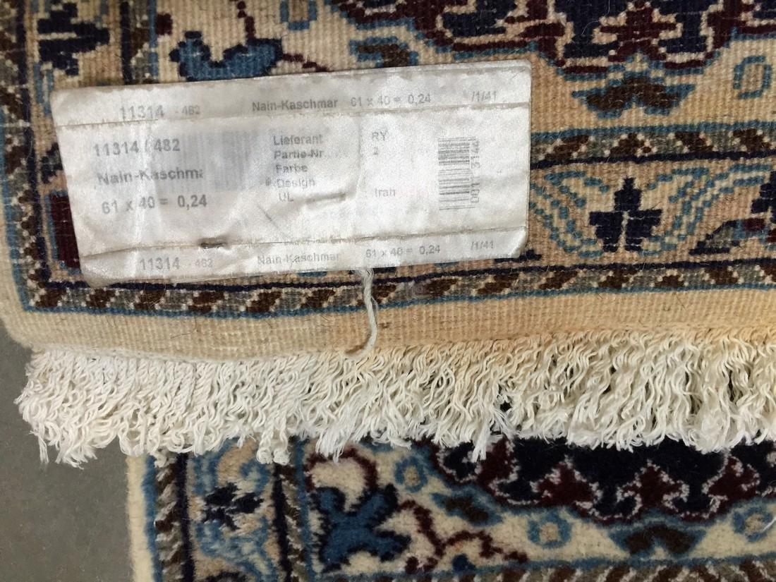 Persian Nain Wool & Silk Rug 2x1.4 - 5