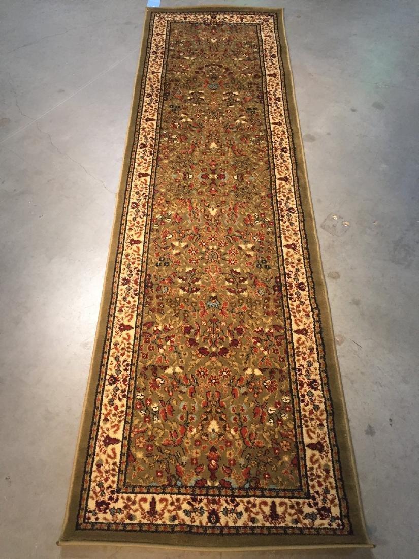Colorful Persian Sarouk Design Runner Rug 2.3x7.7