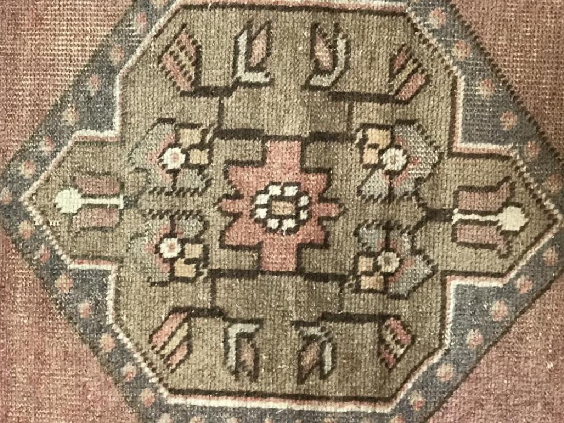 Handmade Wool Turkish Konya Runner 2x9 - 4