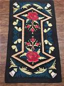 Antique American Hooked Rug 3x5