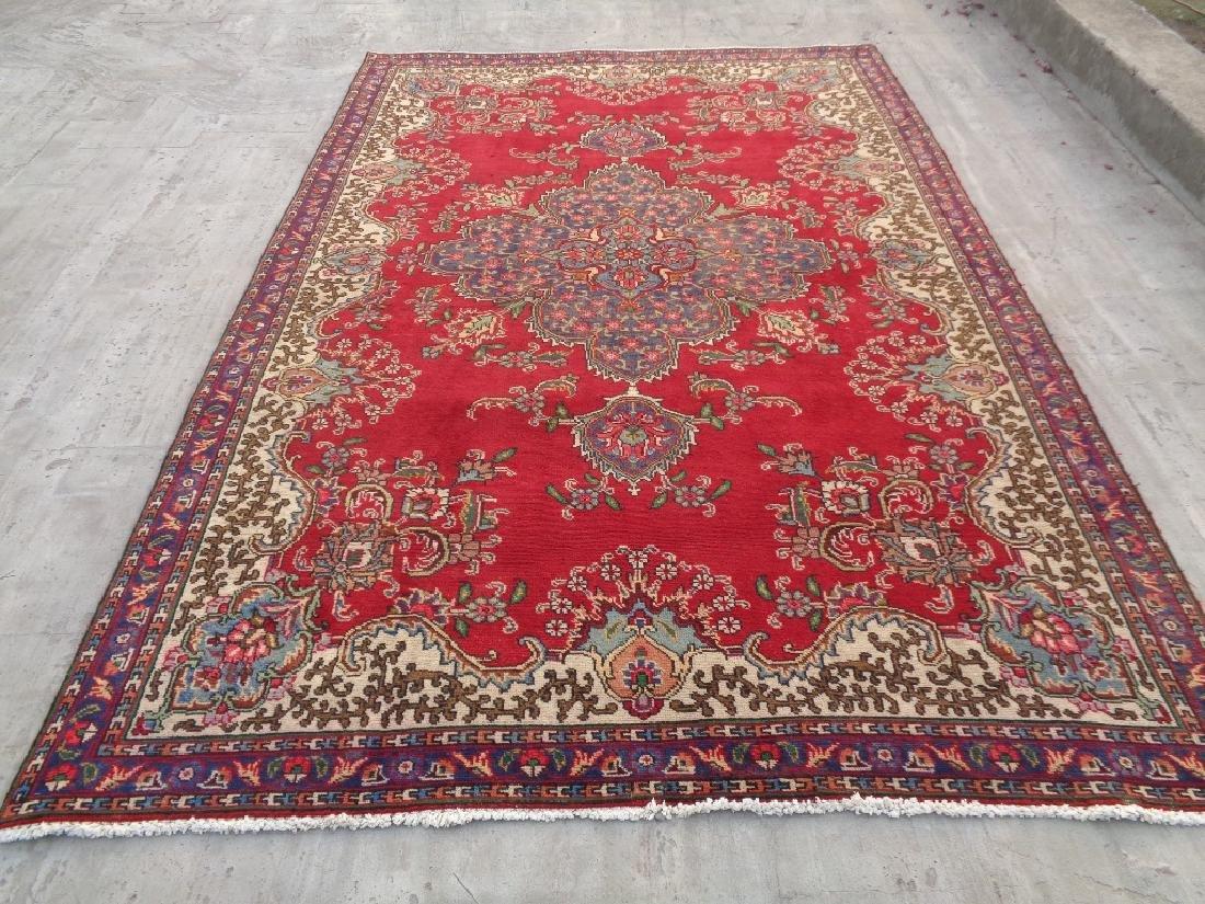 Semi Antique Persian Tabriz Rug 9x6