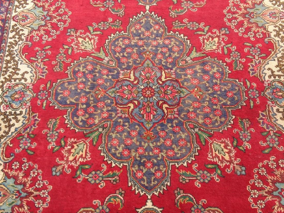 Semi Antique Persian Tabriz Rug 9x6 - 3
