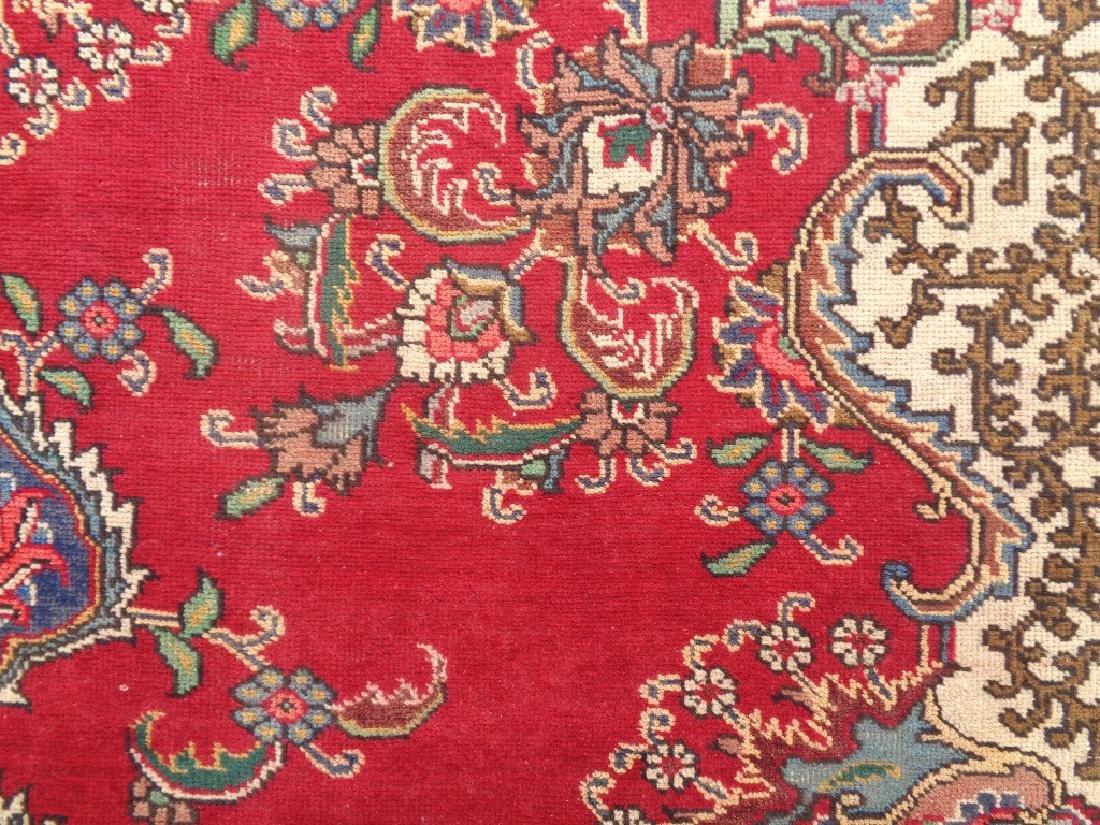 Semi Antique Persian Tabriz Rug 9x6 - 4