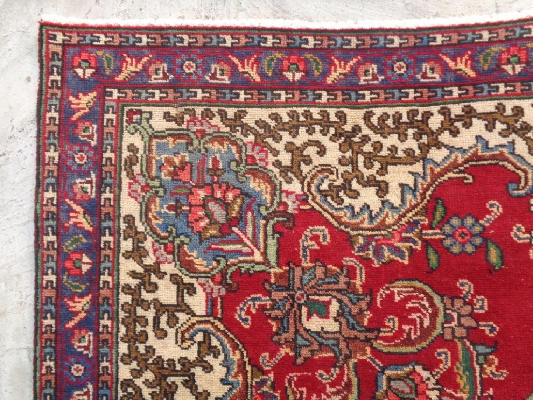 Semi Antique Persian Tabriz Rug 9x6 - 5