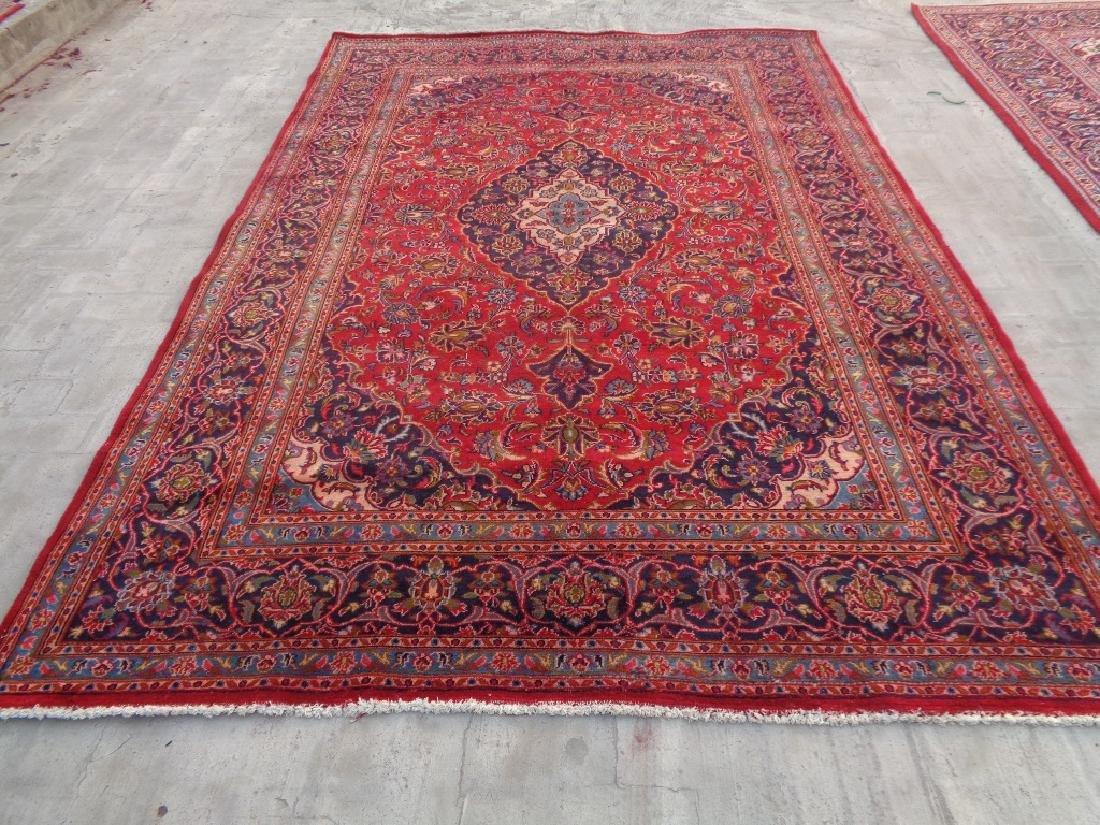 Semi Antique Persian Kashan Rug 9x6