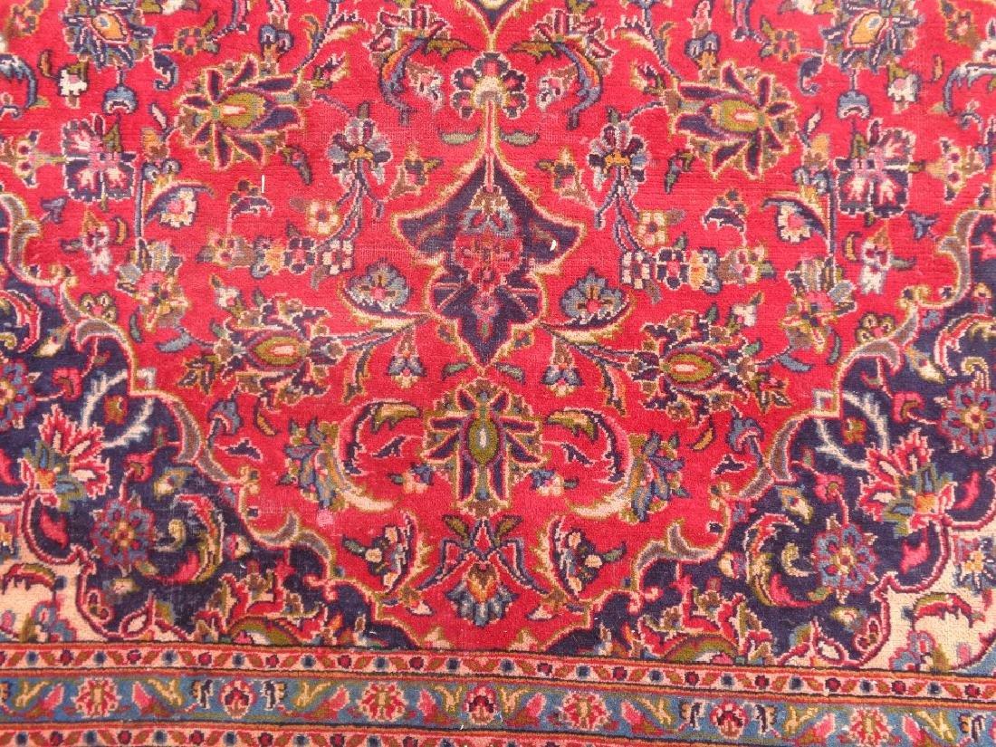 Semi Antique Persian Kashan Rug 9x6 - 2