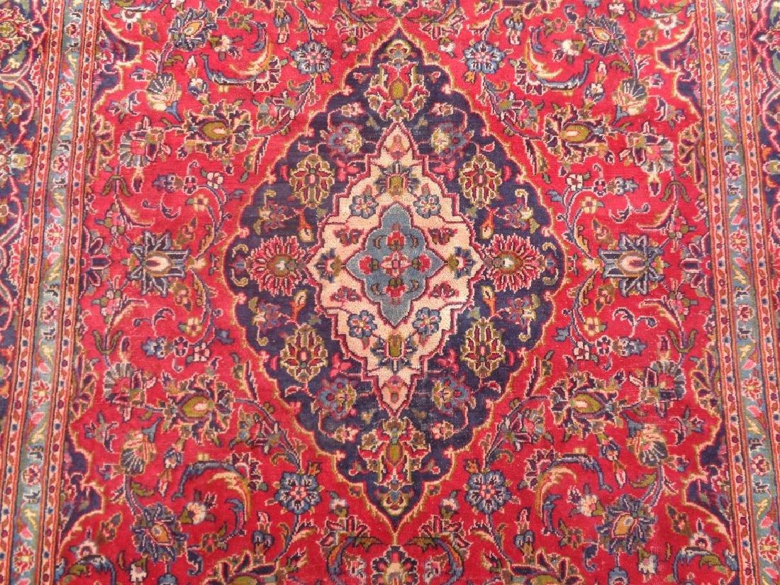Semi Antique Persian Kashan Rug 9x6 - 3